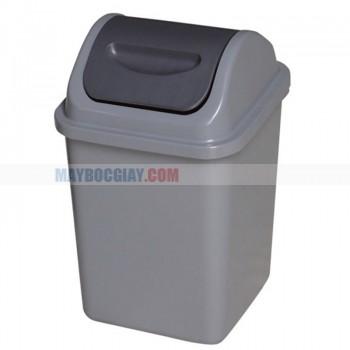 thùng rác HDPE  nắp bập bênh