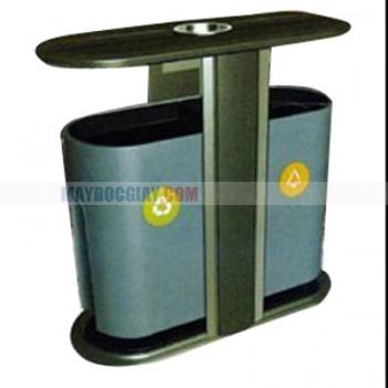 bán thùng rác đôi chất liệu thép