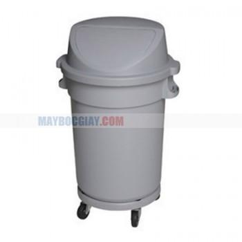 thùng rác nhựa màu xám