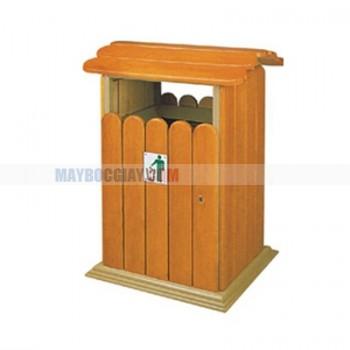 thùng rác thẩm mỹ bằng gỗ