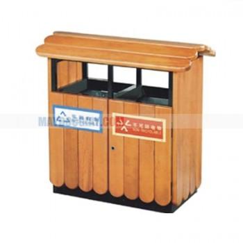 thùng rác đôi phân loại rác hữu cơ và vô cơ
