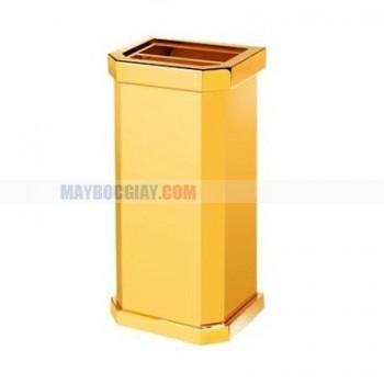 thùng đựng rác mạ vàng