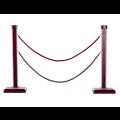 Hàng rào cột ngăn  có dây chắn