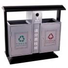bán thùng rác đôi phân loại rác thải bằng thép không gỉ