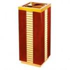 Thùng rác bằng gỗ có gạt tàn thuốc