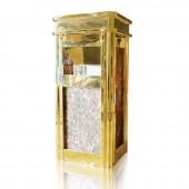 hình ảnh thùng rác đá inox vàng