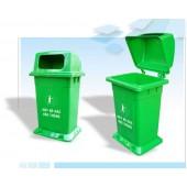 thùng rác nhựa công cộng có lắp đậy