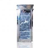 hình ảnh thùng rác đá inox trắng