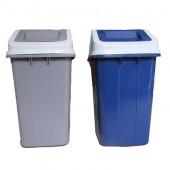 Thùng đựng rác bằng nhựa hdpe nắp bập bênh